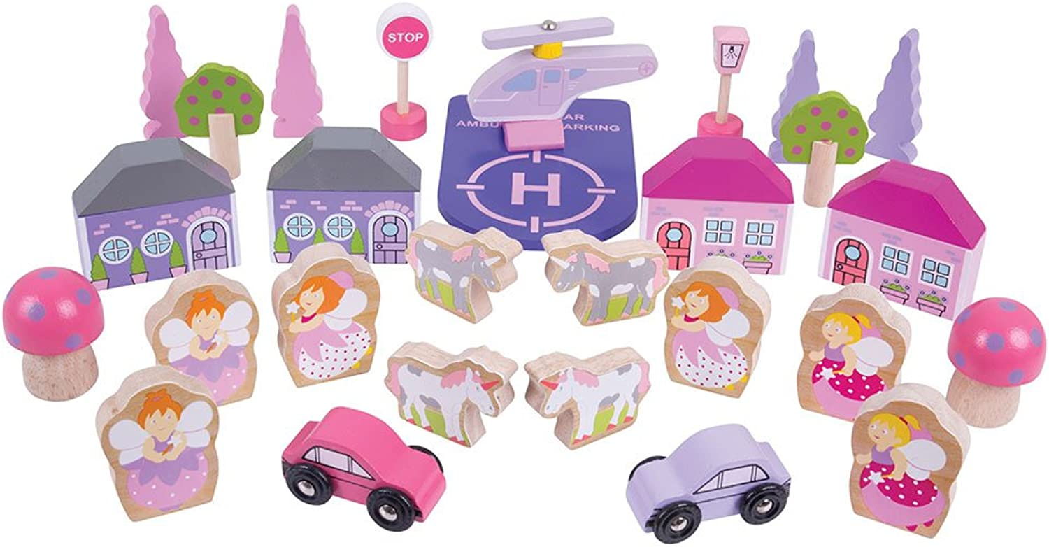Bigjigs Rail Fairy Accessory Expansion Pack  32 Play Pieces