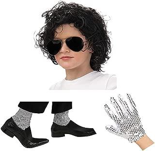 Kids Michael Jackson Dress Up Set Black