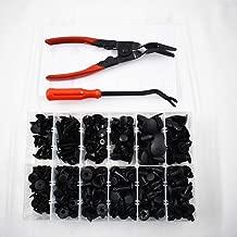 labwork-parts 240x Plastic Rivets Fastener Fender Bumper Push Pin Clips + Free Remover Tool