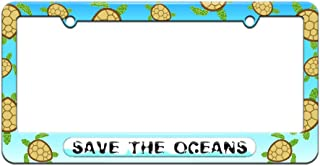 Graphics and More Save The Oceans - Environmental Global Warming - License Plate Tag Frame - Sea Turtle Design