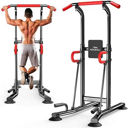 ぶら下がり健康器 懸垂マシン ぶらさがり 懸垂器具 懸垂健康器具 腹筋 吸盤設計 耐荷重150kg 日本語組立・取扱説明書付き(黒赤)
