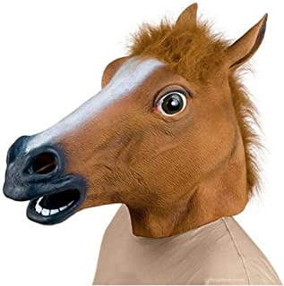 WXYXG Halloween Costume Party Latex Head Mask Horse Head/Halloween Masks Funny (Color : White)