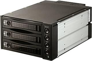 SNT 内蔵 5.25インチ HDDラック -「裸族のお立ち台3Bay」 3.5/2.5インチ HDD/SSDケース SATA / SAS HDD内蔵モバイルラックバックプレーンHDDツールフリーインストール、ホットスワップ ブラック