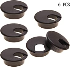 Desk Grommets Plastic Wire Organizers 2 Inch Brown,Computer Desk Cable Hole Cover Plug Caps, Great to Hide Cords & Cables Through Office Desk (6 Pack) by FENGG