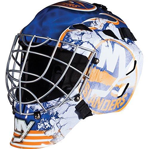 Franklin Sports New York Islanders NHL Hockey Goalie Face Mask - Goalie Mask for Kids Street Hockey - Youth NHL Team Street Hockey Masks