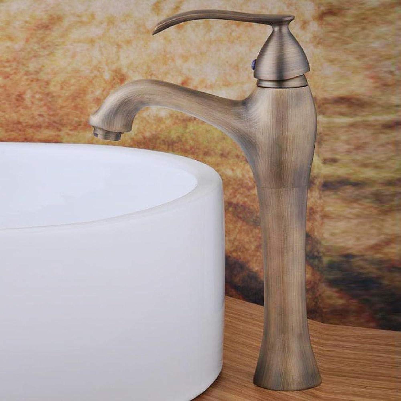 Messing Chrom Retro heies und kaltes Wasser Antik Kupfer Wasserhahn Antik Kupfer Wasserhahn Waschbecken Wasserhahn Single Joint