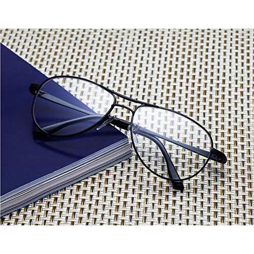 WYCD Pilot Stil Lesebrille Metall Rahmen Federscharniere Brille Gold/Schwarz für Frauen Männer