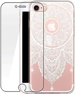 c507e8dec5e iPhone 6S móvil con tanque Cristal, bestsky iPhone 6 Funda transparente  silicona blanco Henna Mandala