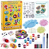 ANDSTON Rock Painting Kits for Kids Adults, Hide and Seek Rock Art,DIY Painting Rocks Kits for Creative Kids Painting Rocks Bulk|Stone, Art Craft Supplies Toys for Boys & Girls