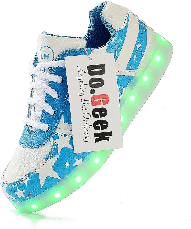 DoGeek USA Flag Light Up shoes Unisex Boy Girl Adult Led shoes 7 colors (Choose Half Size Up)