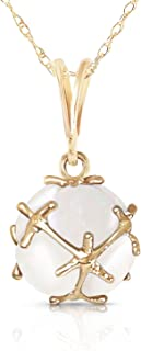 14k Yellow Gold Necklace with Natural Opals