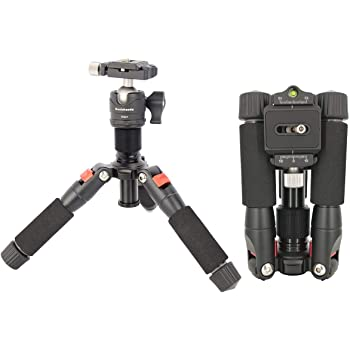 Black Cullmann 52526 NEOMAX 260 Light Travel Tripod with Telescopic Extension for Camera