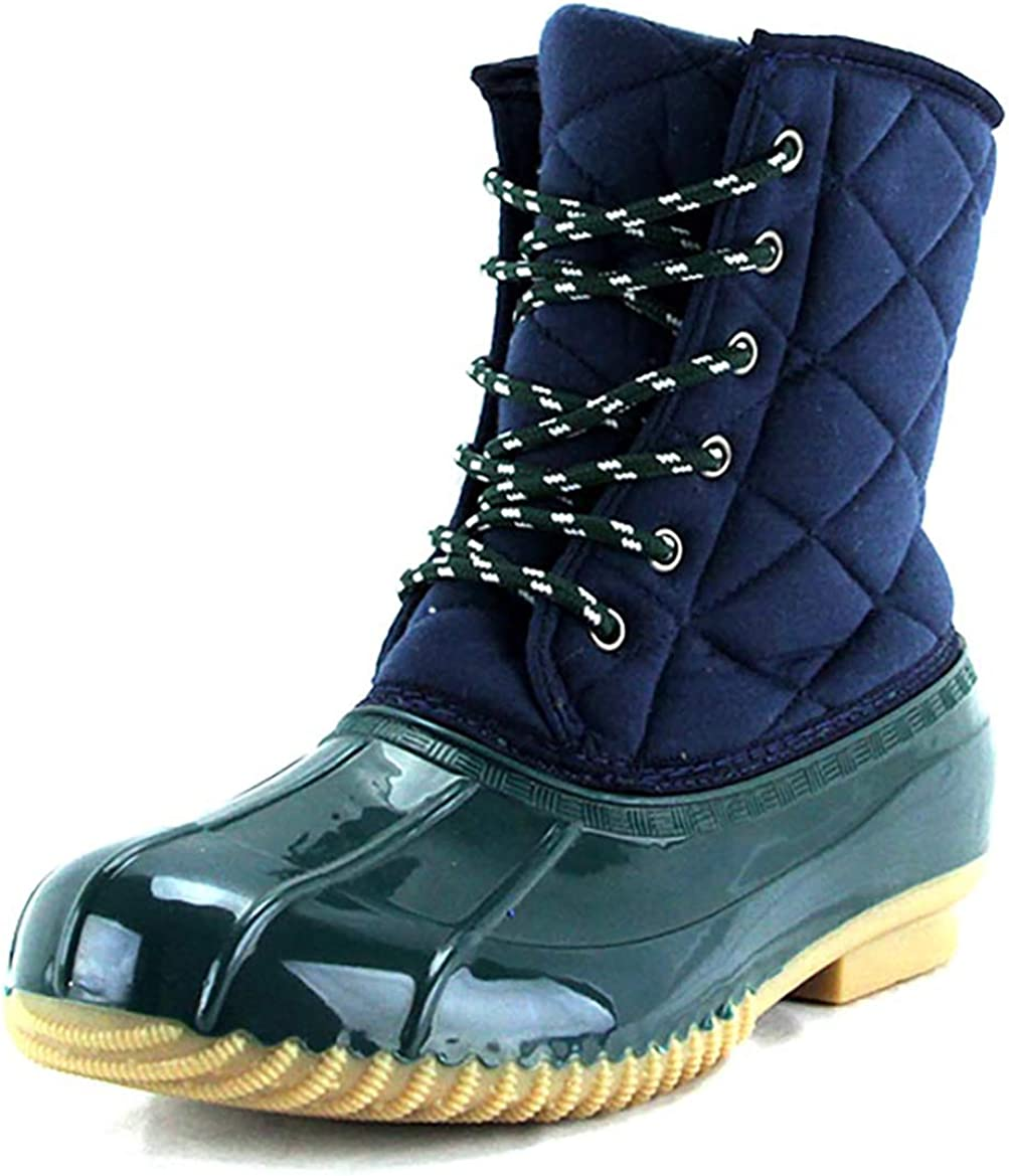 Ladies quilted duck boot
