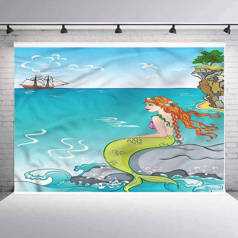 8x8FT Vinyl Photography Backdrop,Animal,Cartoon Style Cats Pattern Photo Background for Photo Booth Studio Props