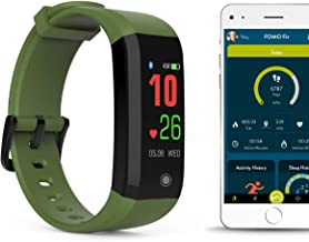 FOMO Fit Sport Fitness Watch Designed in California. Heart Rate, Fitness, Sleep, Active Minutes and IP67 Waterproof. Beautiful Mobile app, Color Screen and USB Charging.