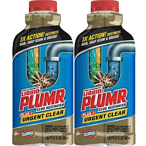 Liquid-Plumr, 17oz 2-Pack, Clear