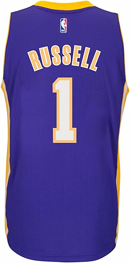adidas D'Angelo Russell Los Angeles Lakers NBA Purple Official ...