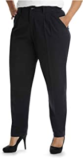 Lee Women's Plus-Size Relaxed Fit Side Elastic Pant