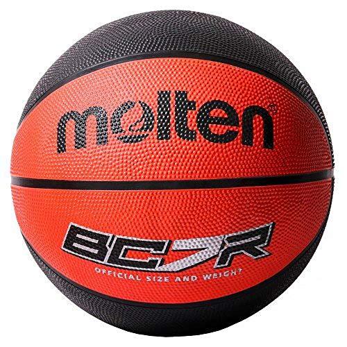 Molten 8Panel Gummi Basketball, Schwarz, Größe 6