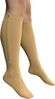 Presadee Closed Toe 15-20 mmHg Zipper Compression Circulation Fatigue Leg Socks