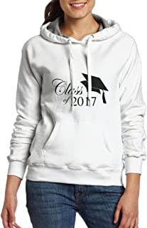 Class Of 2017 Graduation Women's Fashion Hoodies Sweatshirts With Pocket