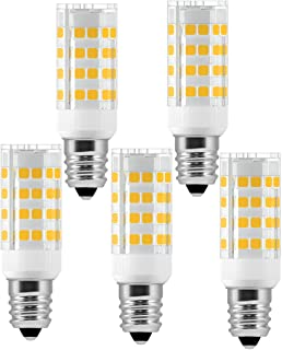 E12 Microwave Oven Light 5W LED Candelabra Light Bulbs (50W Equivalent) Warm White 2800K LED Chandelier Bulbs Non-Dimmable 5 Pack by LUXON