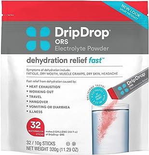 DripDrop ORS Electrolyte Powder For Dehydration Relief, Watermelon, 11.2 Oz