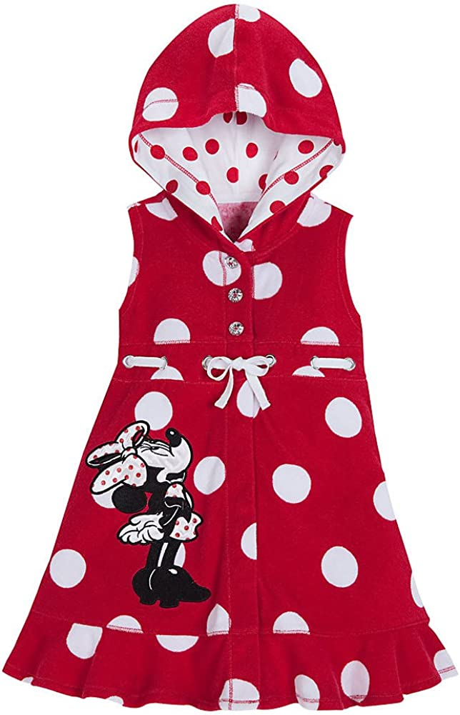 Disney Store OFFer Red Minnie Mouse Swimsuit Memphis Mall Cover 6 5 H Up Small Size