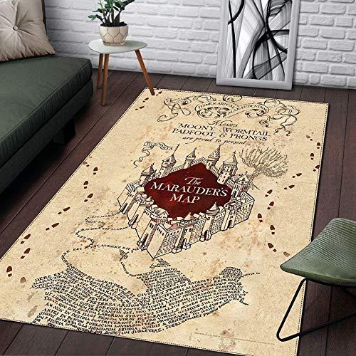 CXJC Alfombrillas de cama suaves y cómodas en el dormitorio, alfombra de patrón impreso 3D, impresión mágica del mundo, impresión y teñido, estera a prueba de humedad del hogar (Color : E)