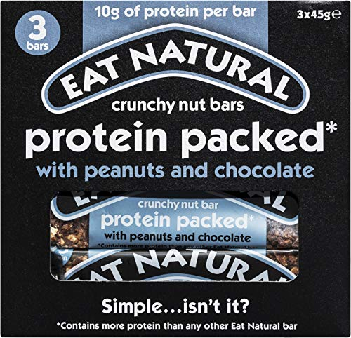 Eat Natural Bars Protein Packed with Peanuts & Chocolate, 45g - Pack of 3