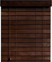 木製 ウッド ブラインド 【幅170cm×高さ97cm】 35mmスラット ダークブラウン/幅161~170cm×高さ31~100cm から選べる