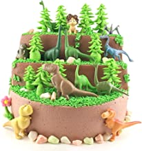 Dinosaur Action Figures | Party Decorations Supplies| Easter T-Rexes Playsets | 4 Inch Jungle Animal Toy | Set of 12 | Toys Realistic Wild | Miniature Animal Cupcake/Cake Topper | Party Favors