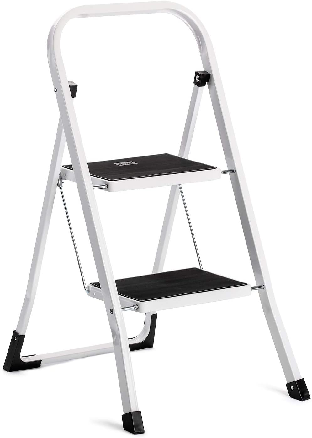 Acko Step Stool-2 Step Step Ladder for Adults with Handgrip and Anti-Slip Wide Pedal.Multi-Use for Household and Office Portable Compact Small Step Ladders Hold up to 300lbs Steel