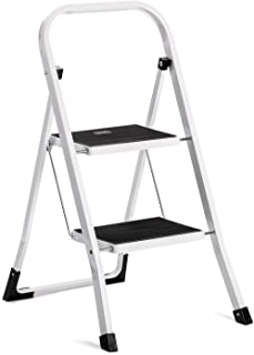 Acko Step Stool-2 Step Step Ladder for Adults with Handgrip and Anti-Slip Wide Pedal.Multi-Use for Household and Office Po...