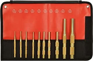 Mayhew Tools 61387 10 Piece Brass Pin Punch Set