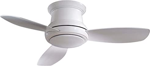 Minka Group Company F518-WH Flush Mount, 3 White Blades Ceiling fan with 44 watts light, White