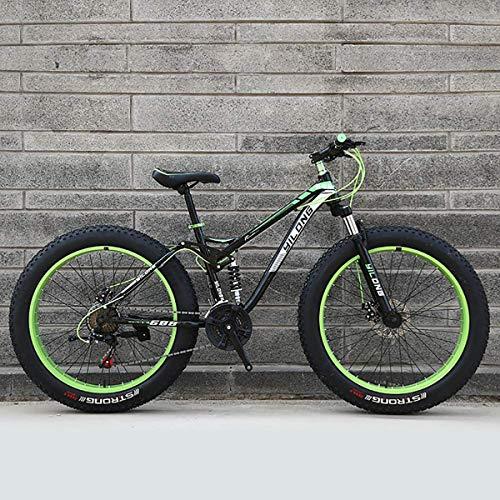 GXLO Bicicletta 24/26 Pollici MTB Top Fat Bike Fat Tire Bike Neve Bici Fat Tire Big Biciclette Fat...