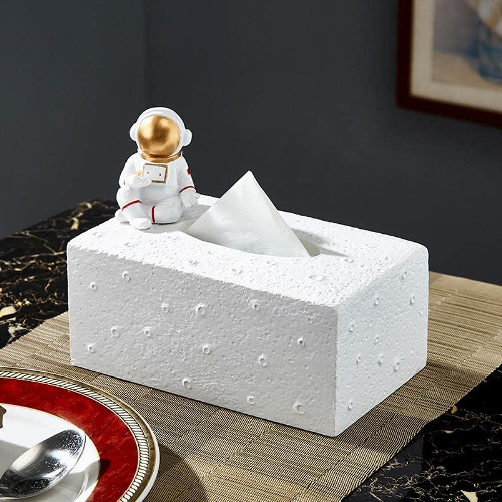 CHOUDOUFU Estatua Escultura Adorno Caja De Toallas De Papel Nórdico Ins Astronauta Bandeja De Dibujo Hogar Sala De Estar Mesa De Café Decoración Creativa Caja De Servilletas De Astronauta