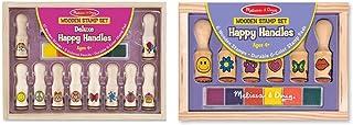 Melissa & Doug Stamp Set Bundle Happy Handles and Deluxe Happy Handles