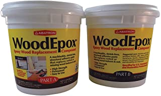 Abatron WoodEpox Epoxy Wood Replacemnt Compound, 2 Gallon Kit, Part A & B