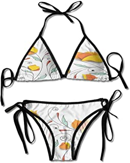 Swimsuit Tops Long Sleeve Branches Romantic Paper Printing Bikini for Women