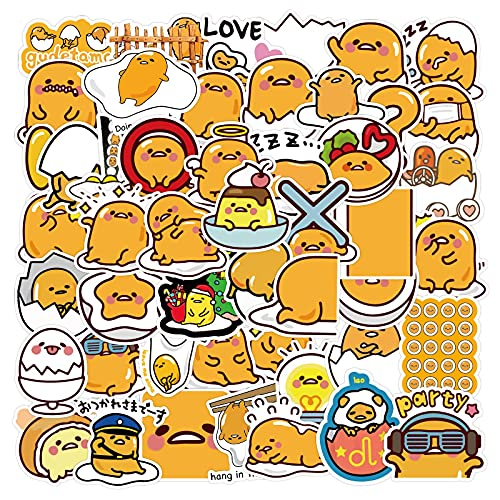 MBGM 60pcs Lazy Egg Cartoon Sticker Equipaje lindo Diy decorativo etiqueta engomada impermeable