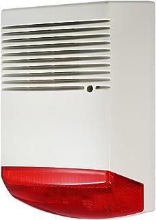 OWSOO Alarma de Casa Alarma de Luz y Sonido Flashlight Rojo 120dB Alarma Fuerte Impermeable para