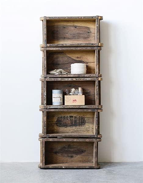 Brick Mold Wall Shelf Found Wood 5 Shelves