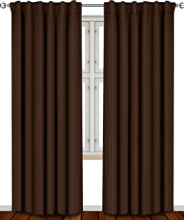 Best chocolate brown panel curtains Reviews
