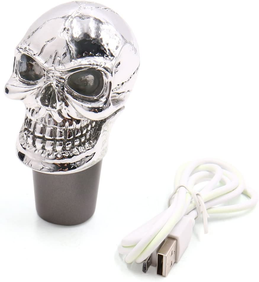 uxcell Skull Head Design Clearance SALE! Limited time! Colorful LED unisex Gear Shift Kn Manual Light