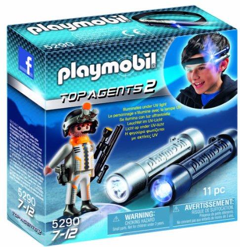 PLAYMOBIL Agentes Secretos 2 - Linterna de Espionaje con Agente Secreto, Juguete Educativo, 15 x 5 x 15 cm, (5290)