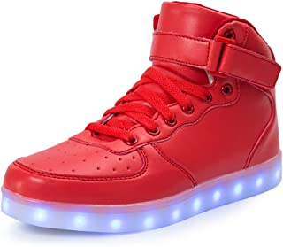706dd1d32c FLARUT Kids LED Light Up Shoes Boys Girls High Tops School Sneakers  Christmas Party Dancing