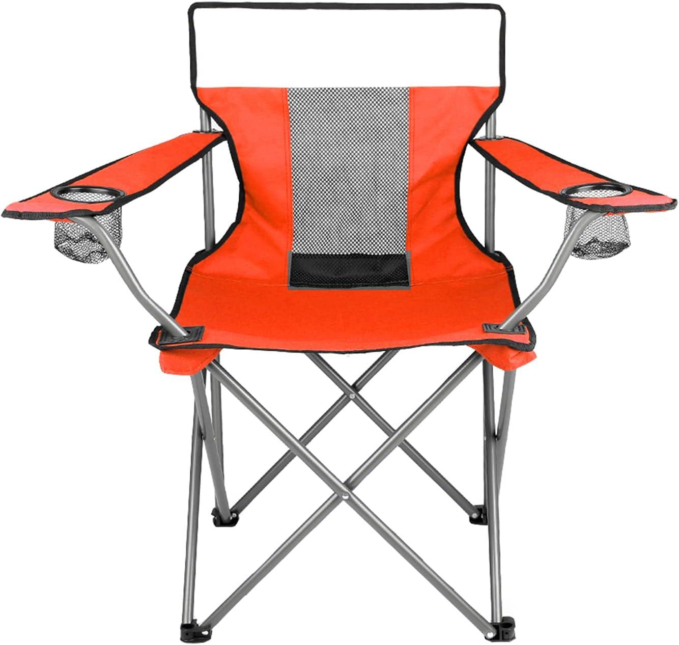 ZHAOJ Silla De Camping Plegable, Ligera, Portátil, con Respaldo De Malla, con Brazo Cuádruple Y Portavasos para Mochileros En La Playa Al Aire Libre,80×44×46cm