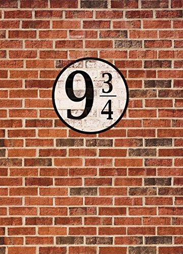 1art1 Ziegelstein-Mauern - Gleis Neundreiviertel, 2-Teilig Fototapete Poster-Tapete 250 x 180 cm